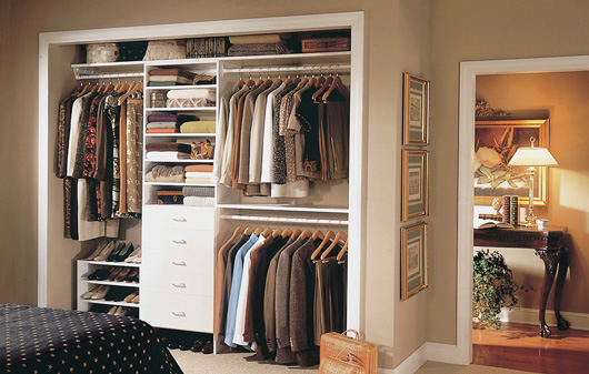 Reach In Closet Design Ideas 3 foot closet Reach In Closets